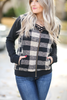 Big Picture Plaid Jacket in Black and Taupe (SALE)