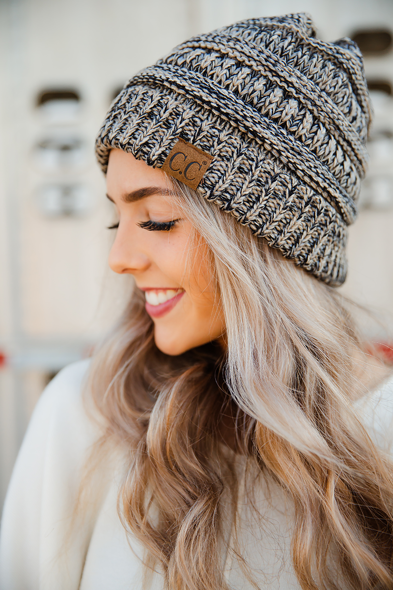 CC Two Tone Knit Beanie