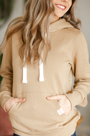 Highlights Hoodie in Tan
