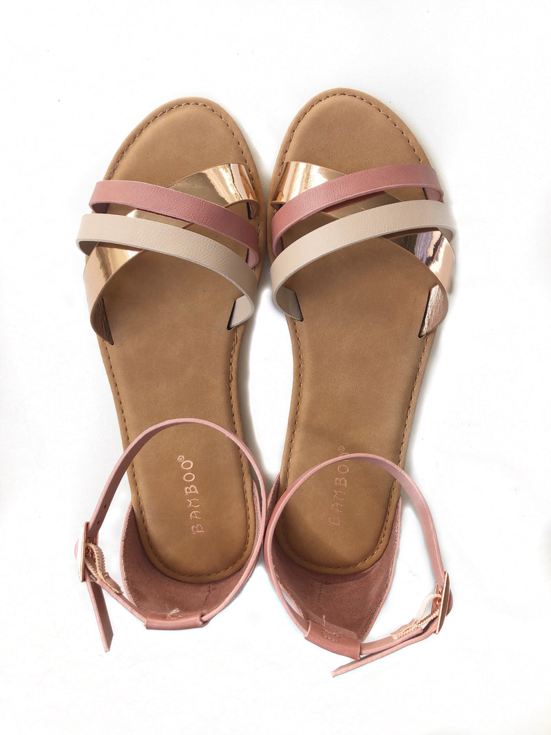 Fabulously Flirty Rose Gold Sandals