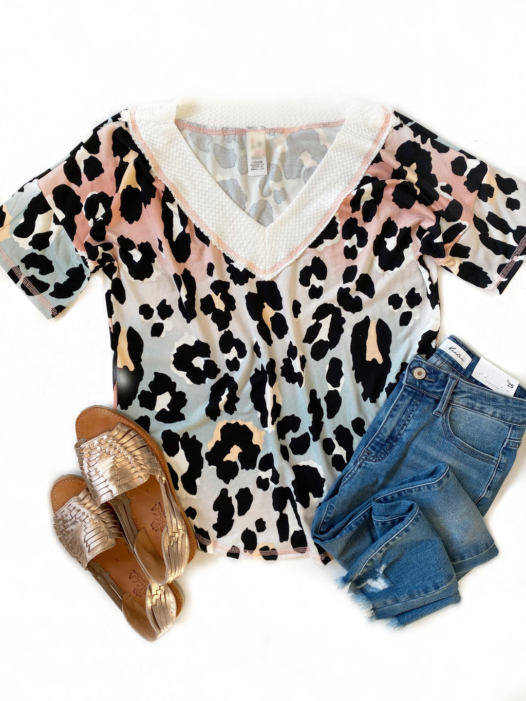 Lovely Thought Colorful Animal Print Top