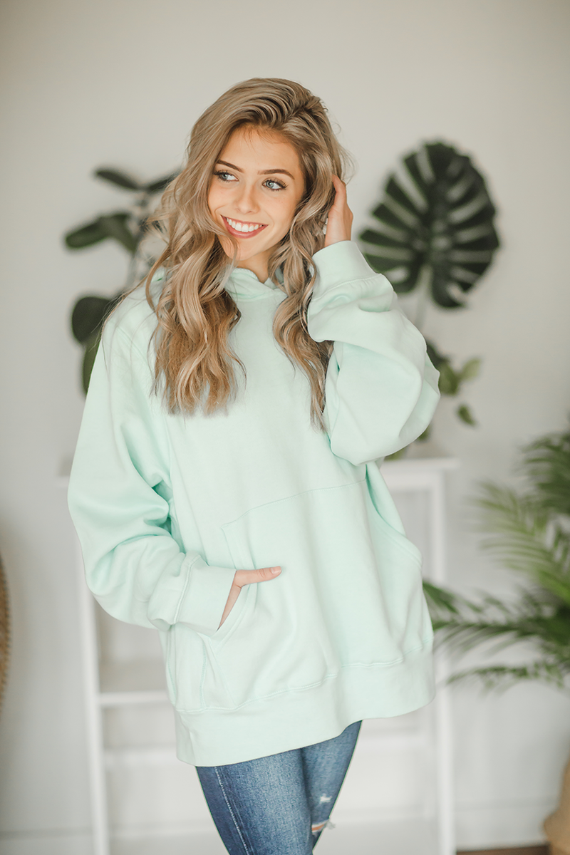 Girlfriend Runaway Hoodie in Mint