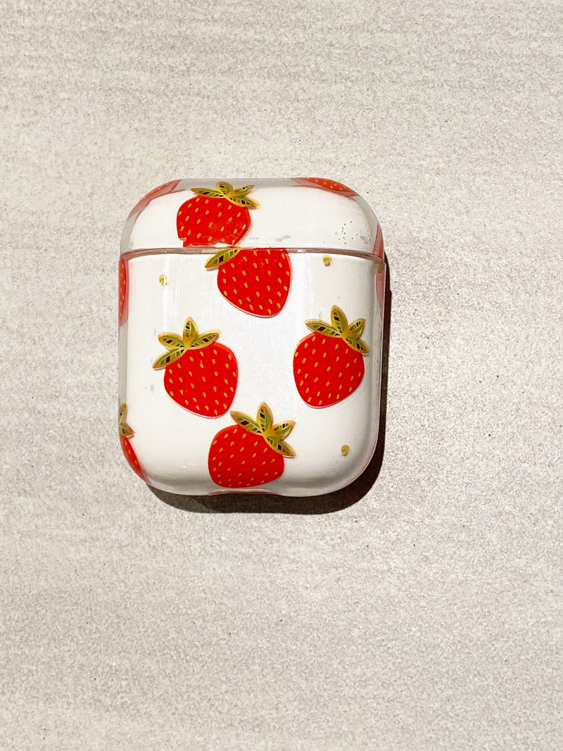 Wireless Air Buds Case in Strawberries