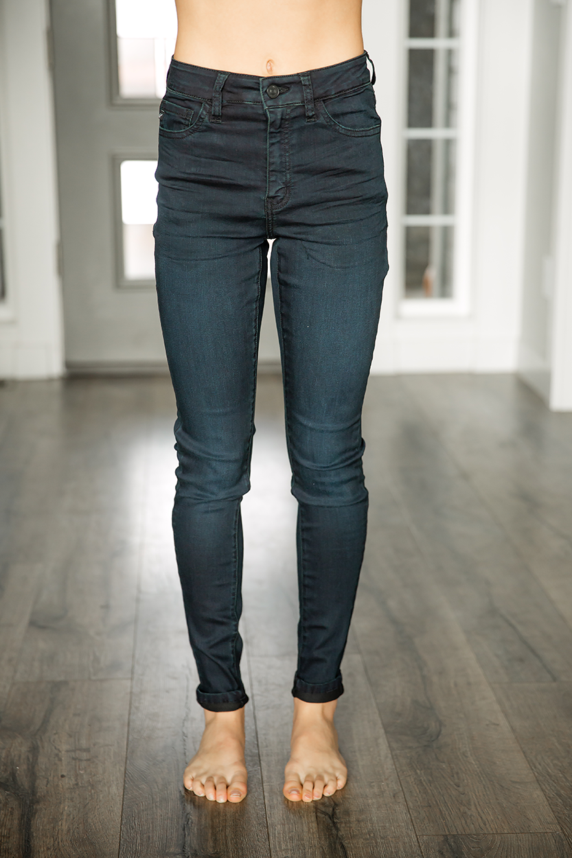 KanCan Tiny Dancer High Rise Skinny Jeans In Deep Navy