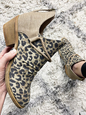 Very G The Thrill Booties in Animal Print