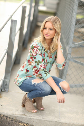 Paradise Awaits Buttery Soft Floral Top