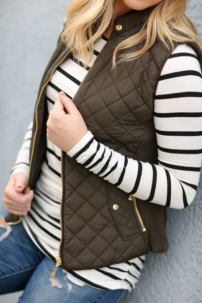 Cool Weather Vest in Olive