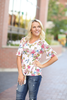 Picture Perfect Floral Knotted Bell Sleeve Top (SALE)