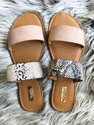 Make Them Smile Double Strap Sandals