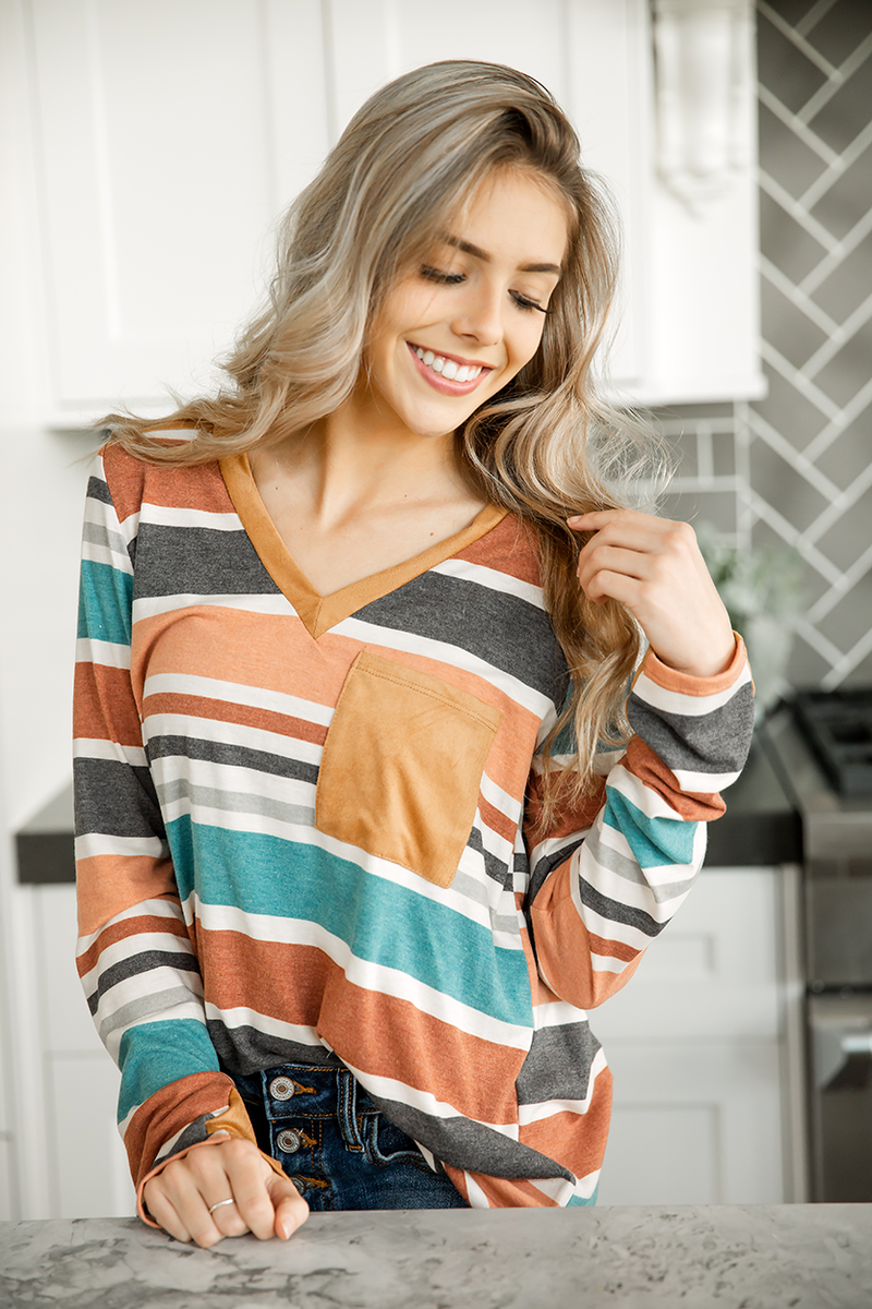 Dare You To Move Multi-Color Striped Top
