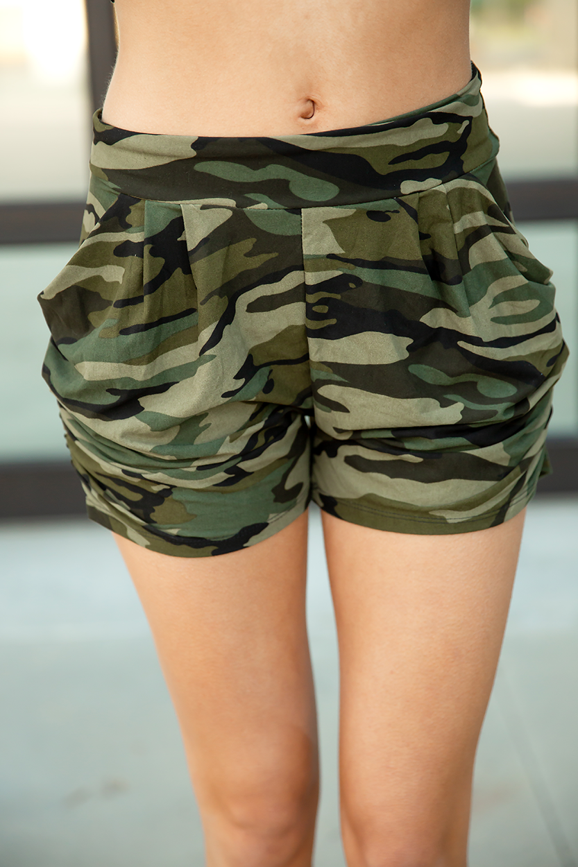Feels Like Butter Shorts in Camo