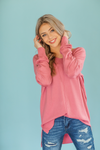 Way Up High Pullover Sweater in Rose
