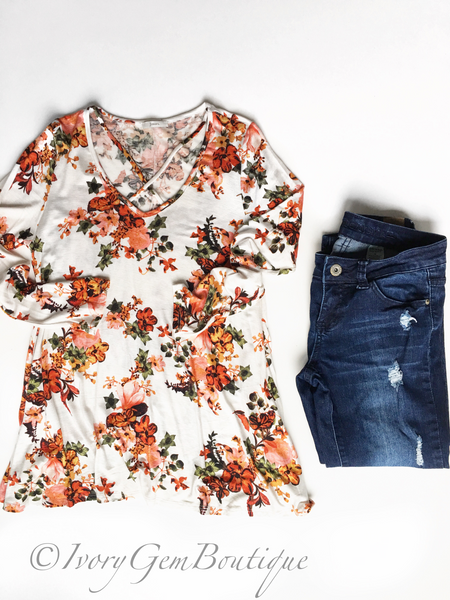 Make a Move Floral Top (SALE)
