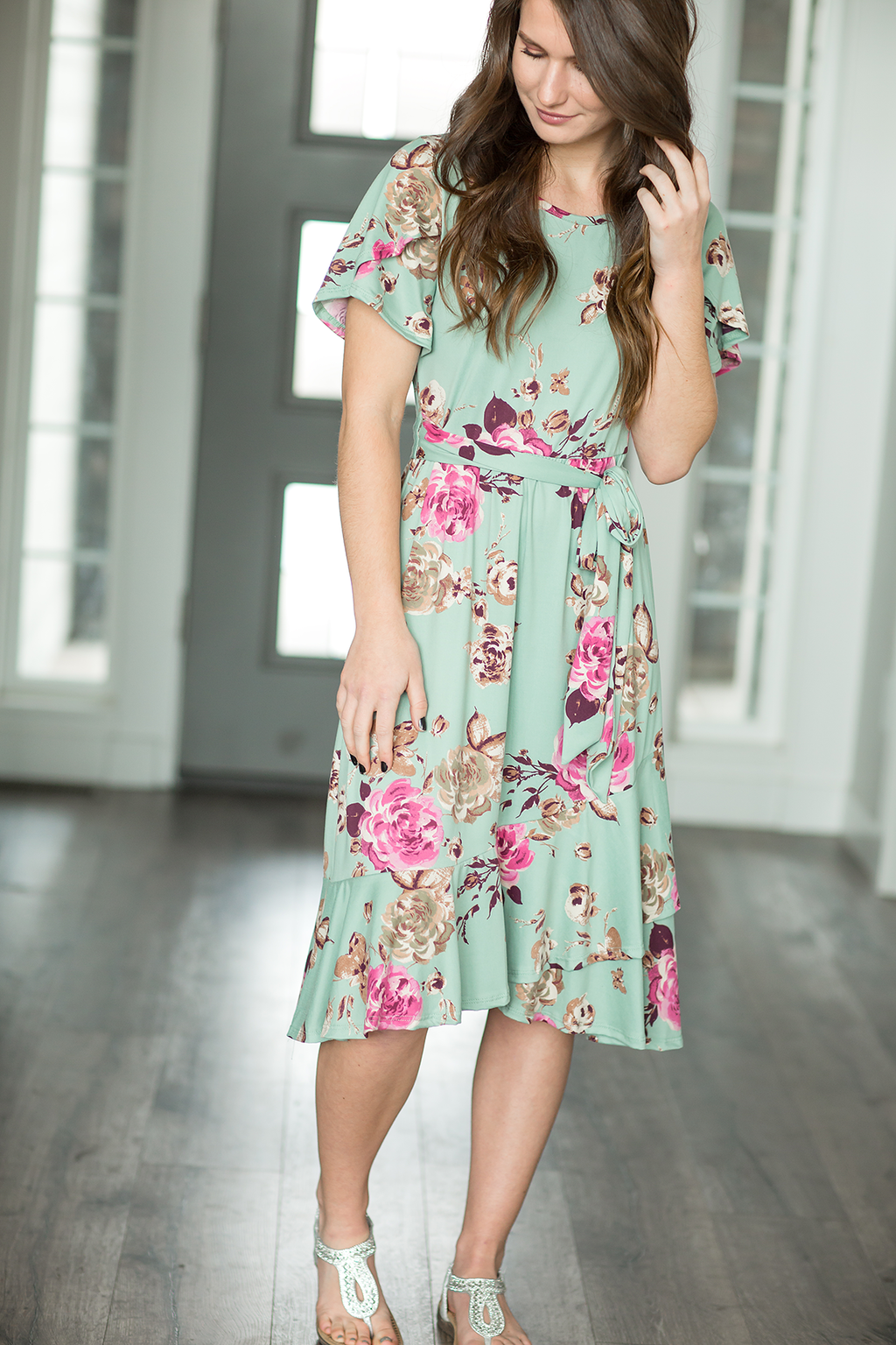Figuring It Out Floral Dress in Mint