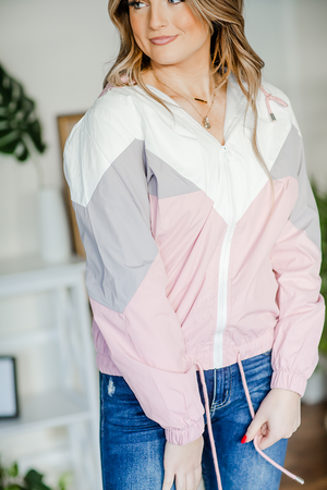 Picture Perfect Windbreaker in Pink
