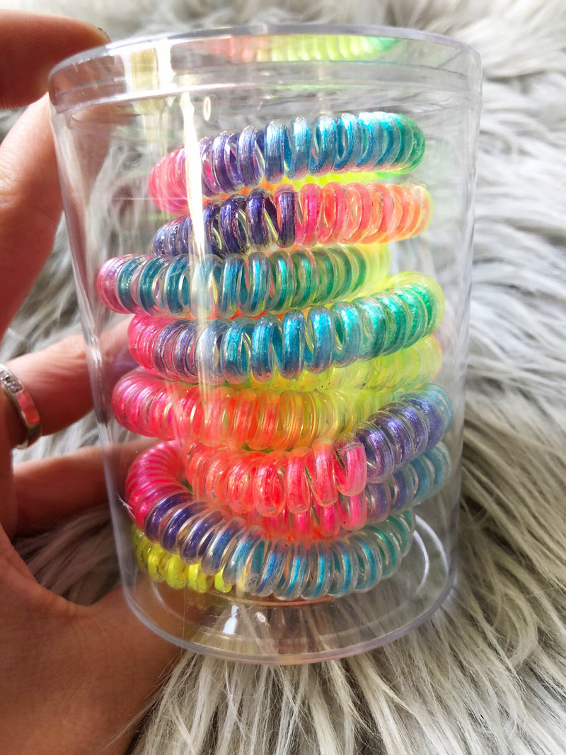 Neon Boutique Coil Hair Ties