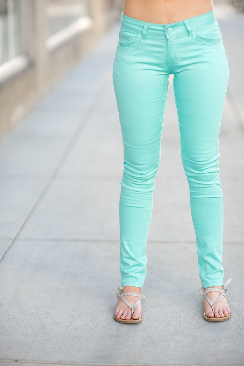 Rockin' The Beat Mint Pants