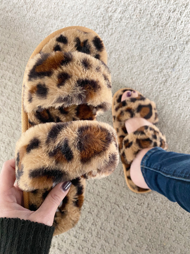 Just Go With It Slippers in Animal Print