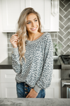 Let's Do It Again Animal Print Long Sleeve Top