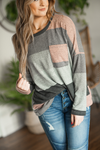 Telling Myself Secrets Striped Sweater in Charcoal