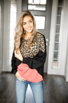 Keep On Lovin' You Animal Print, Mauve, and Black Long Sleeve