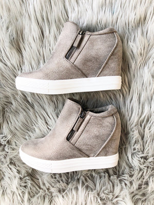 Not Rated Wedge Sneakers in Gray