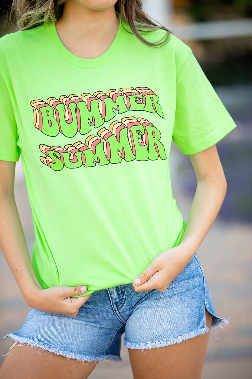 Bummer Summer Neon Graphic Tee