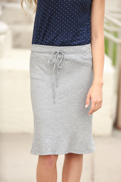 Smooth Sailing Skirt in Gray Thermal Jersey