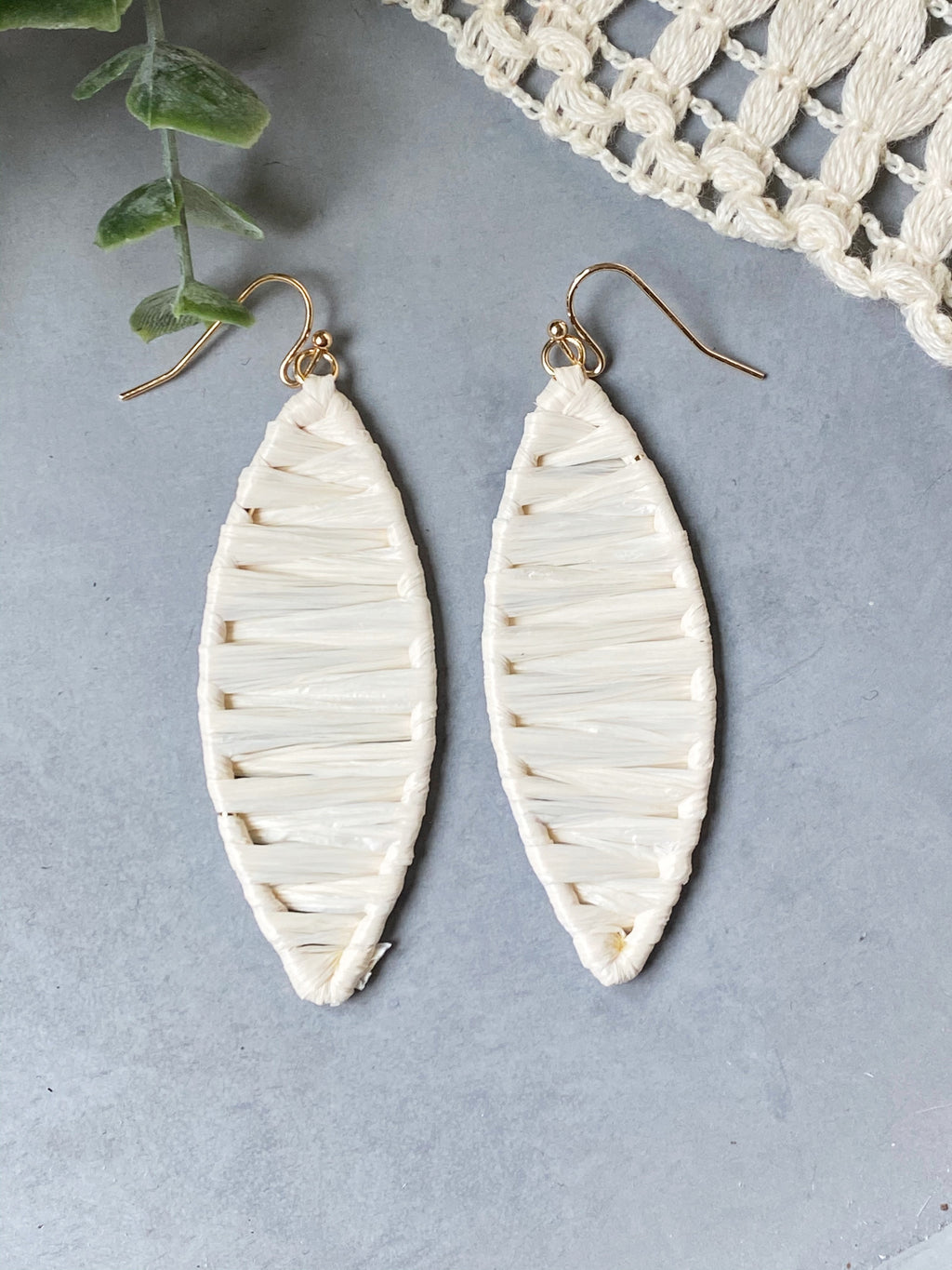 Lindsay Cream Earrings
