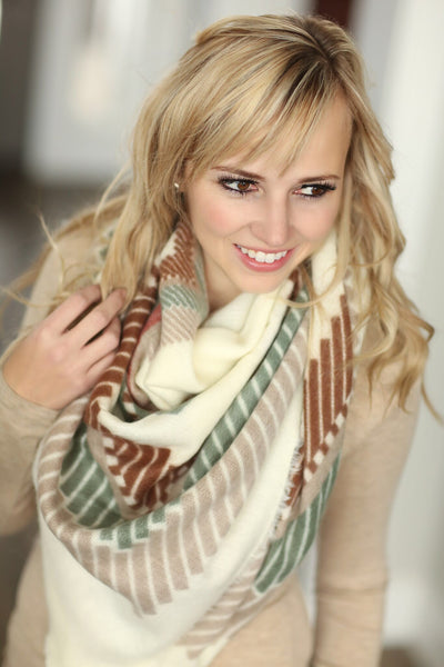 Tribal Print Blanket Scarf