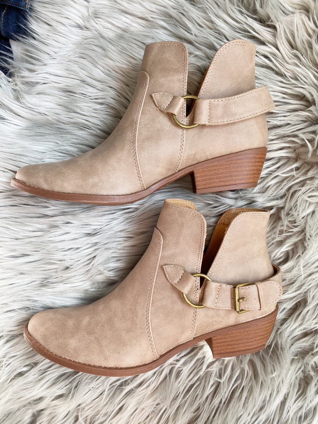 Fashion Forward Booties in Taupe (SALE)