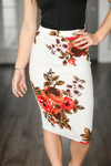 Make It Great Floral Skirt in White