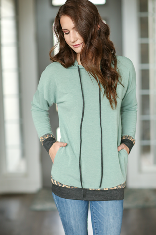Great Things Hoodie in Sage