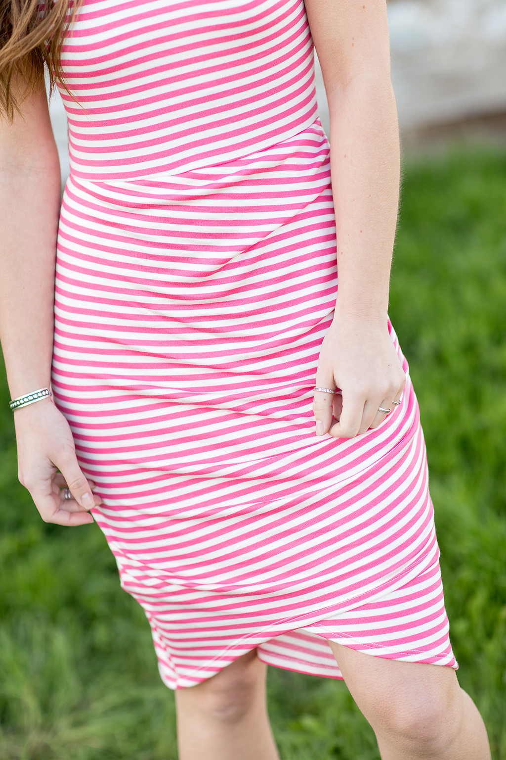 Complete The Look Coral Striped Dress (SALE)
