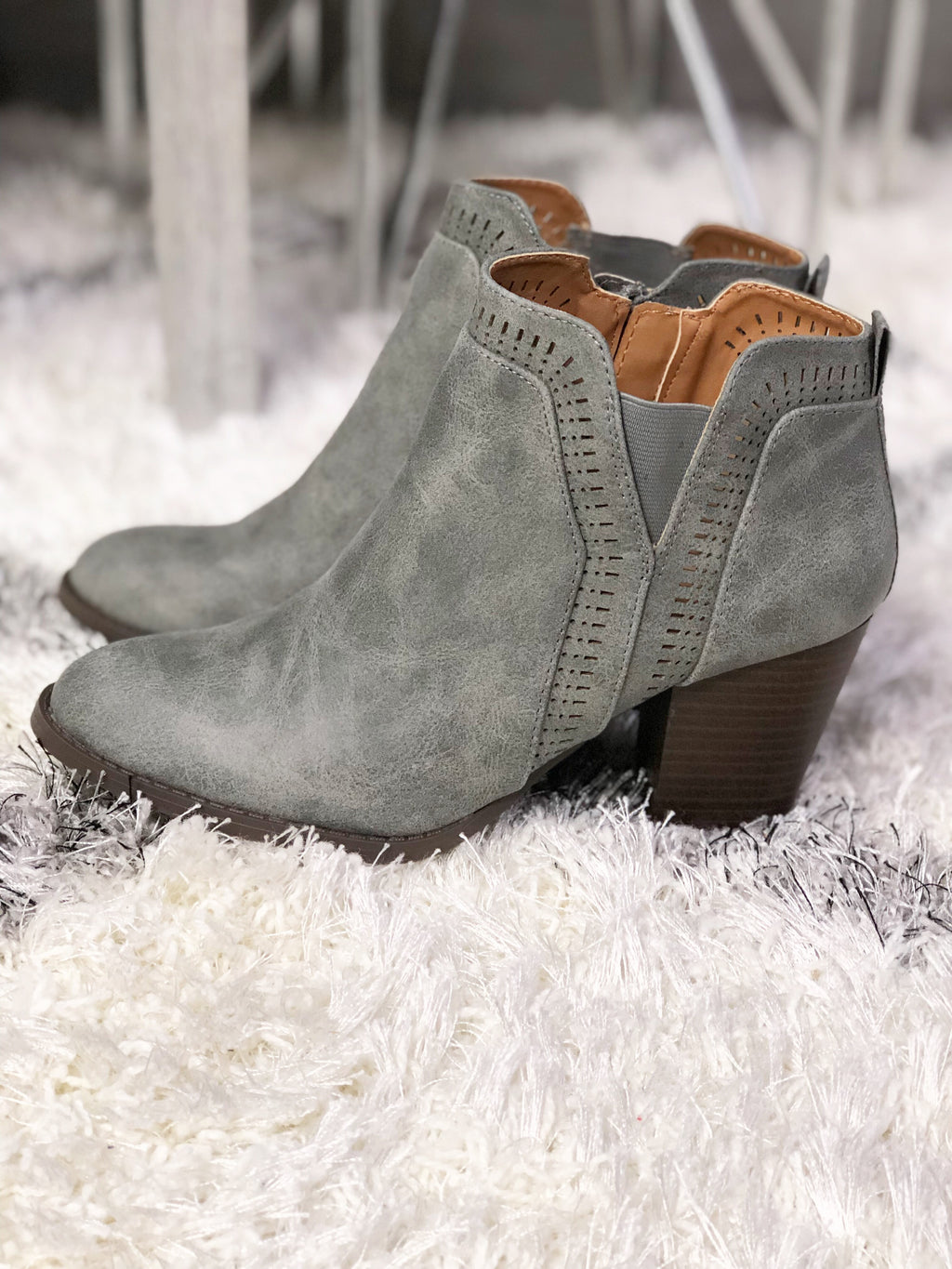 Rise Up Booties in Ash Gray (SALE)
