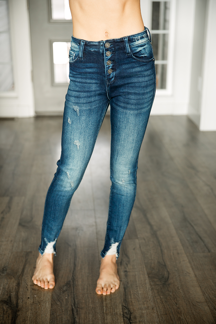 KanCan Out For A Walk High Rise Super Skinny Jeans