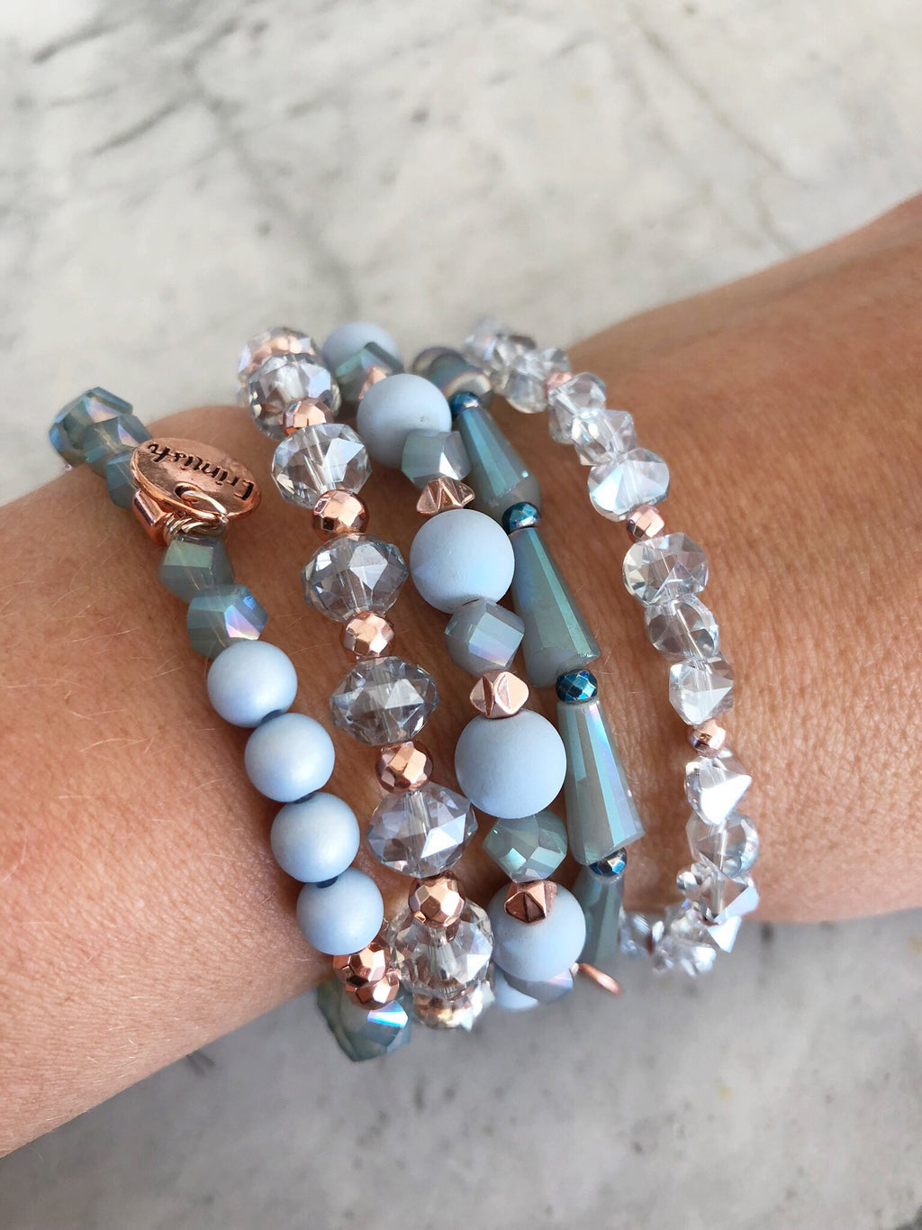 Erimish Bracelet Stack in Blue