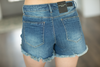 Great Things are Happening Denim Fringed Shorts