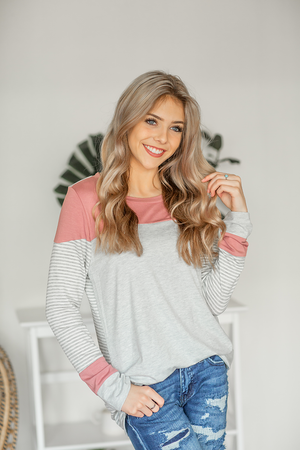 All Outta Faith Top in Gray