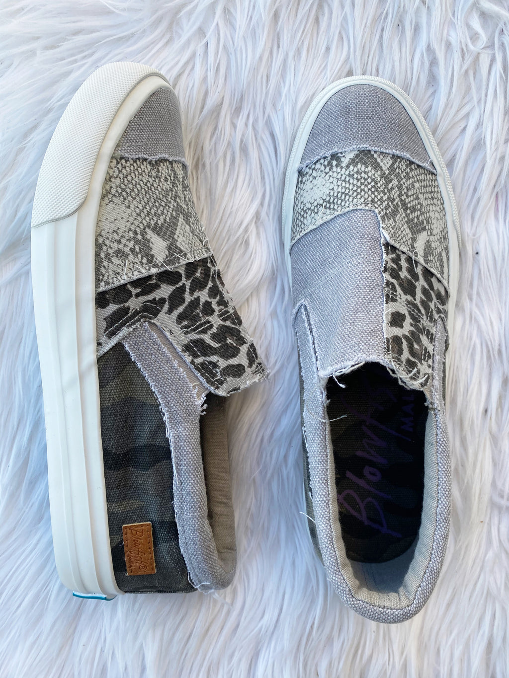 Blowfish Loved By You Slip On Sneaker in Snake and Camo