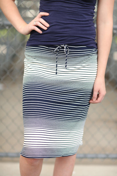 Simple And Perfect Striped Skirt