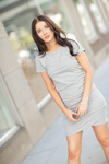 Great Things Ahead Dress in Gray