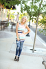 Favorite Things Multi Color Striped Tank