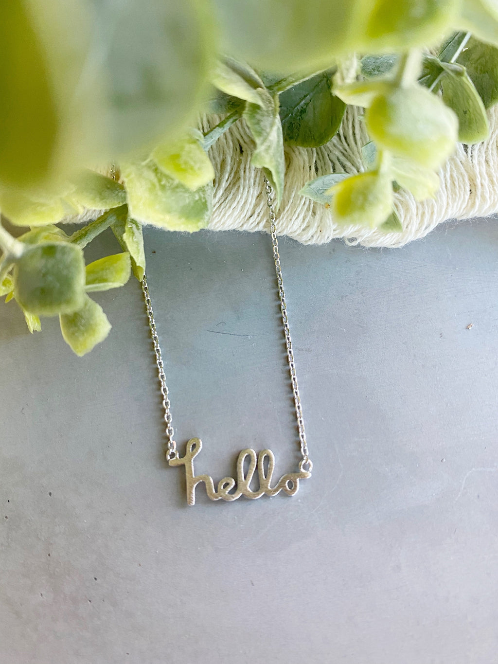Hello Petite Necklace in Silver