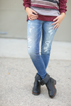 Judy Blue Just Right Patched Up Denim Jeans
