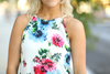 Blooming Blossoms Floral Tank in White