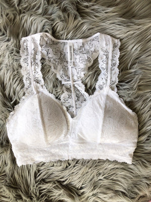 Simply Delighted Padded Lace Bralette (Multiple Colors)