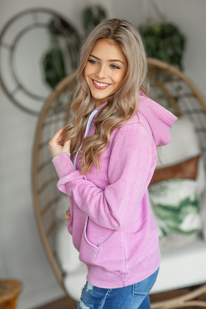 Highlights Hoodie in Vintage Orchid