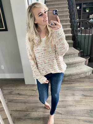 Raining Fire Knit Sweater in Ivory