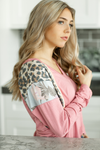 More Beautiful Together Top in Mauve with Animal Print and Floral